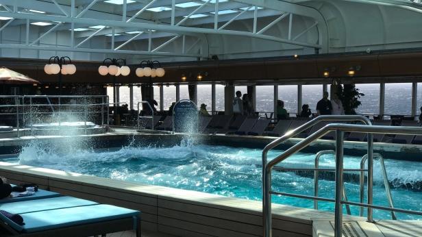 Pool splashing in heavy seas