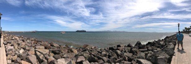 Coastal Panorama on walkway to town center