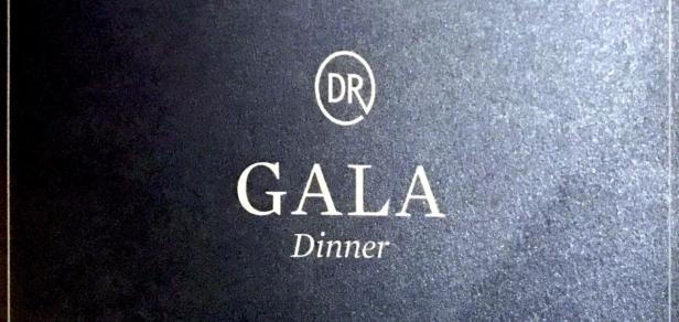 The Gala dinner menu